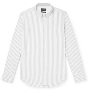 rag & bone - Fit 2 Tomlin Slim-Fit Button-Down Collar Striped Cotton Oxford Shirt - Men - Gray
