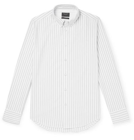 rag & bone - Fit 2 Tomlin Slim-Fit Button-Down Collar Striped Cotton Oxford Shirt - Men - Gray