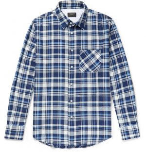 rag & bone - Fit 3 Beach Checked Herringbone Stretch-Cotton Shirt - Men - Blue