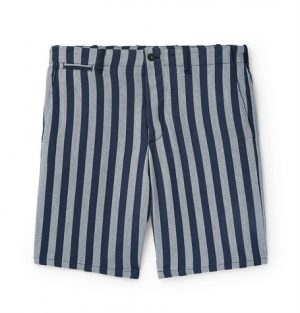 rag & bone - Slim-Fit Striped Herringbone Cotton Shorts - Men - Gray
