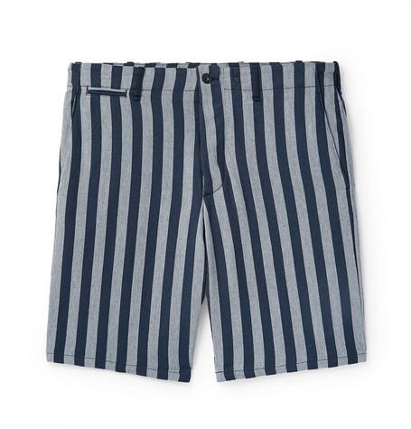 rag & bone - Slim-Fit Striped Herringbone Cotton Shorts - Men - Gray