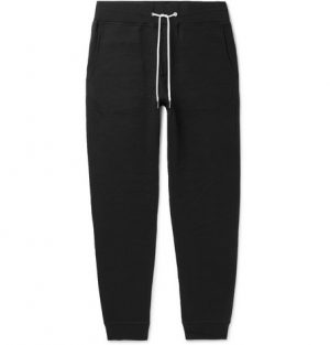 rag & bone - Slim-Fit Tapered Loopback Cotton-Jersey Sweatpants - Men - Black
