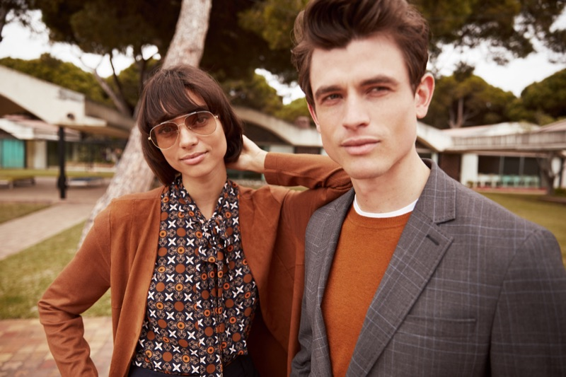 Guy Lowndes photographs Charlee Fraser and Luc van Geffen for s.Oliver Black Label's fall-winter 2019 campaign.