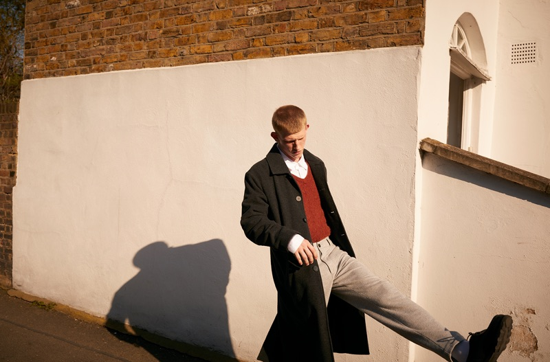 American Vintage enlists Connor Newall to appear in its fall-winter 2019 lookbook.