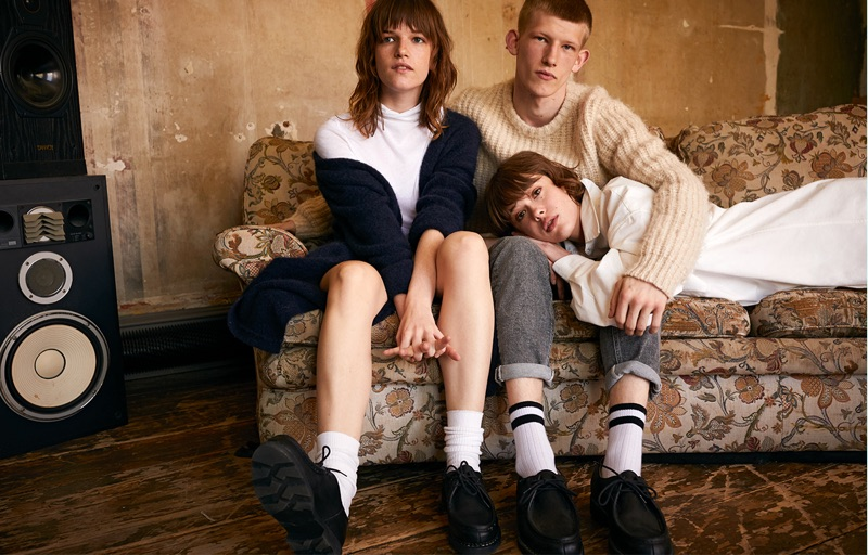 Angèle Metzger, Connor Newall, and Mathilde Warnier star in American Vintage's fall-winter 2019 lookbook.