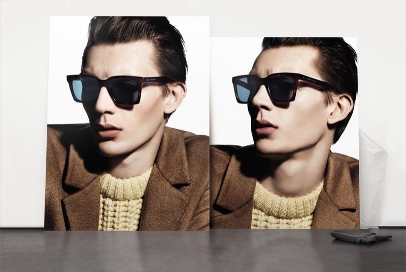A cool vision, Finnlay Davis stars in BOSS' fall-winter 2019 men's eyewear campaign.