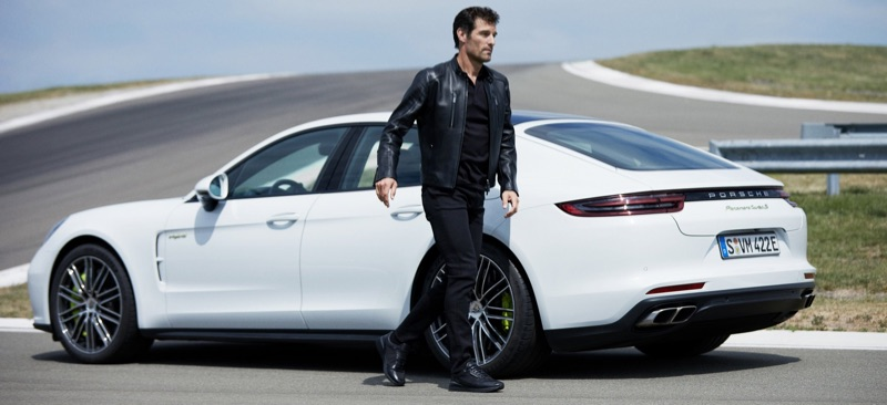 Former professional racing driver Mark Webber fronts the BOSS x Porsche fall-winter 2019 campaign.