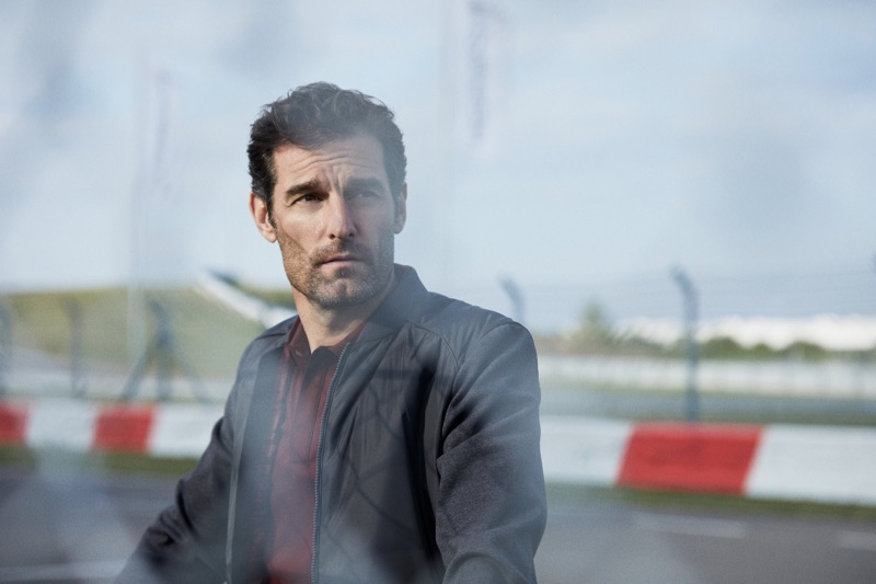 Embracing contemporary style, Mark Webber appears in the BOSS x Porsche fall-winter 2019 campaign.