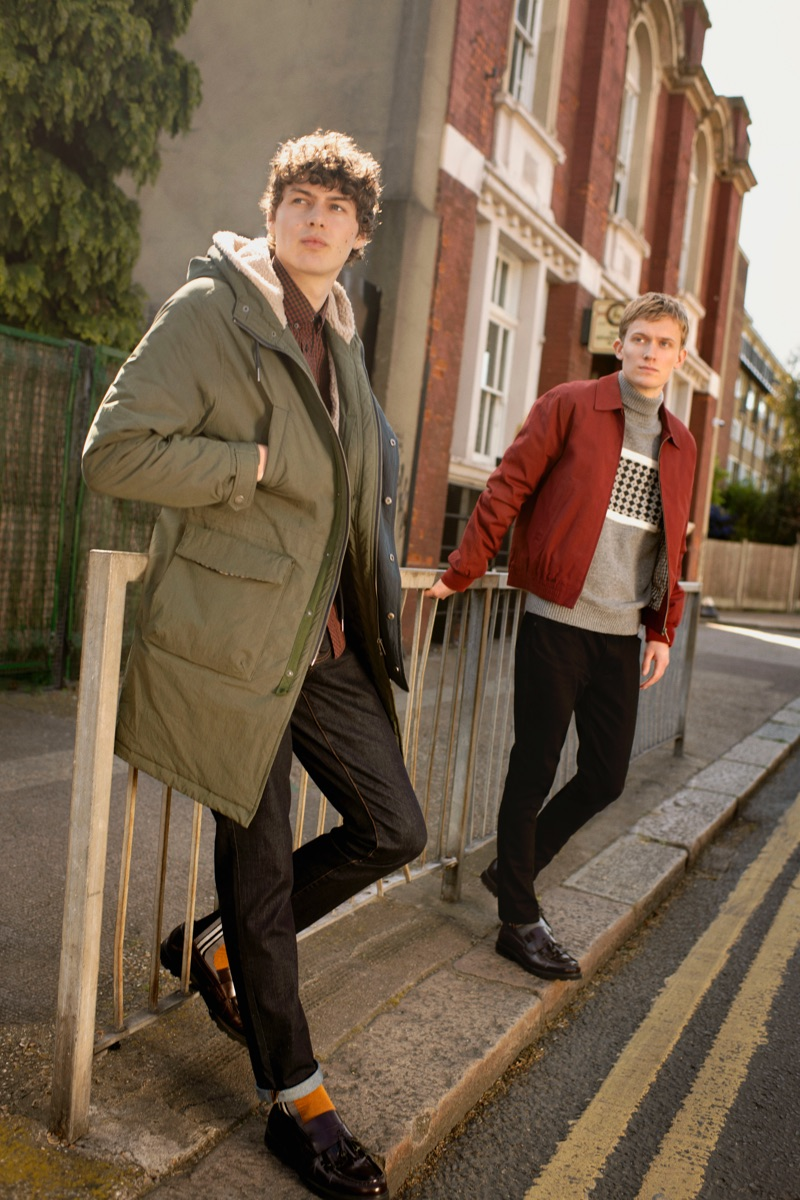 Models Darwin Gray and Freddie Dennis appear in Ben Sherman's fall-winter 2019 campaign.