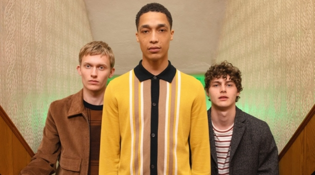 Tom Craig photographs Freddie Dennis, Luke Cousins, and Darwin Gray for Ben Sherman's fall-winter 2019 campaign.