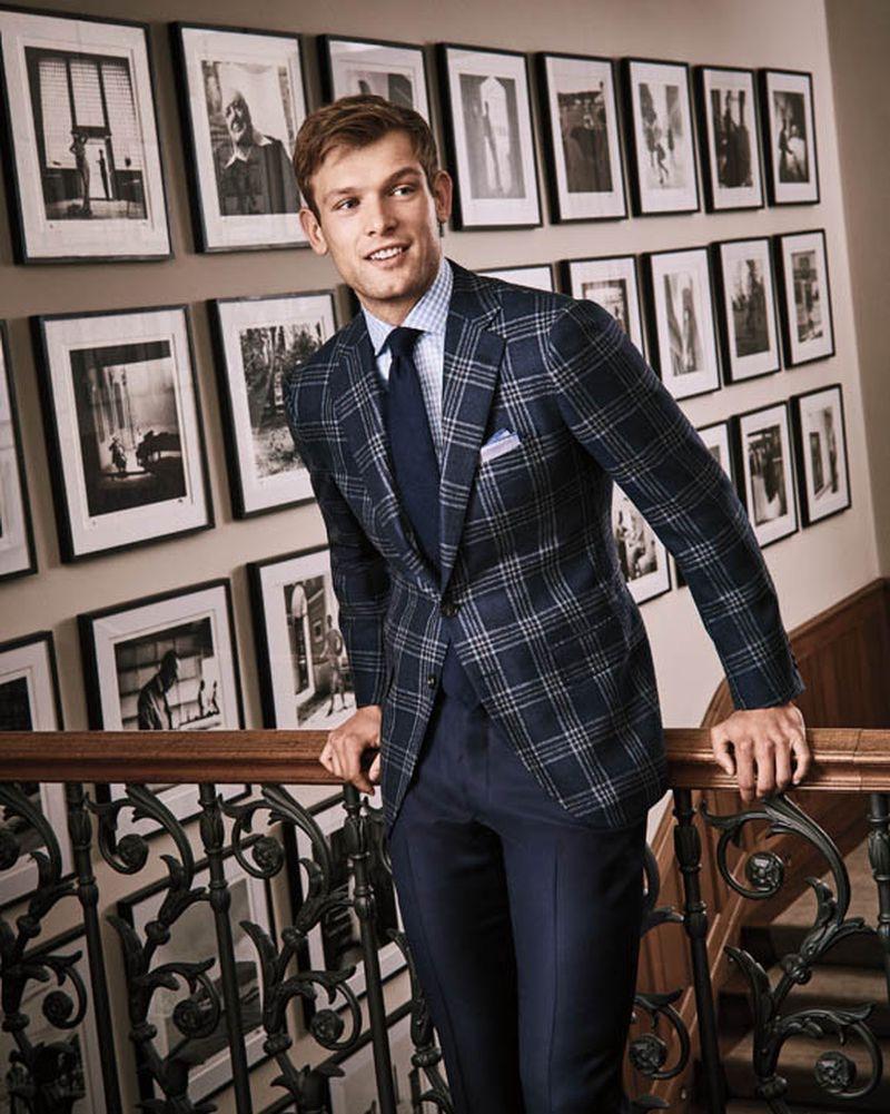 Elliott Reeder is a chic vision in fall menswear for Bergdorf Goodman.