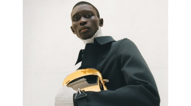 Fernando Cabral fronts Bottega Veneta's fall-winter 2019 men's campaign.