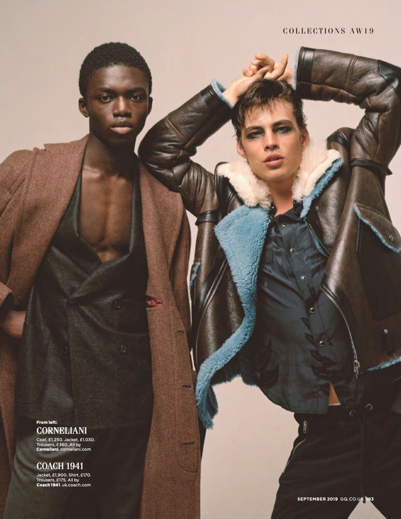 Julian Schneyder, David Trulik + More Model Fall '19 Collections for British GQ