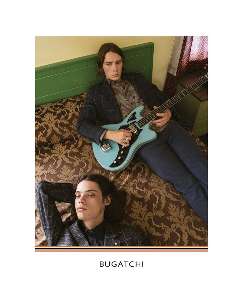 Erin Mommsen and Luca Bertea come together for Bugatchi's fall-winter 2019 campaign.