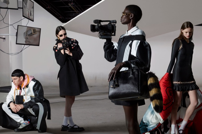 Alexis Chaparro, Anna Ross, Mammina Aker, and Kacie Hall front Burberry's fall-winter 2019 campaign.