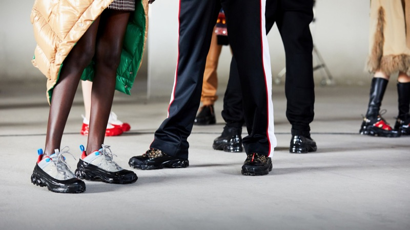 Sneakers are front and center for Burberry's fall-winter 2019 campaign.