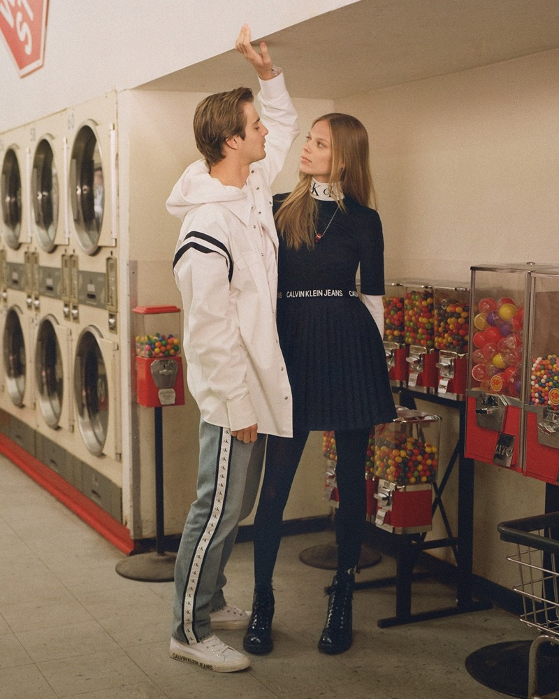 Ben Allen and Lexi Boling appear in Calvin Klein Jeans' fall-winter 2019 campaign.