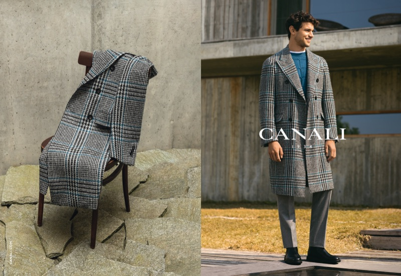 Giacomo Cavalli appears in Canali's fall-winter 2019 campaign.