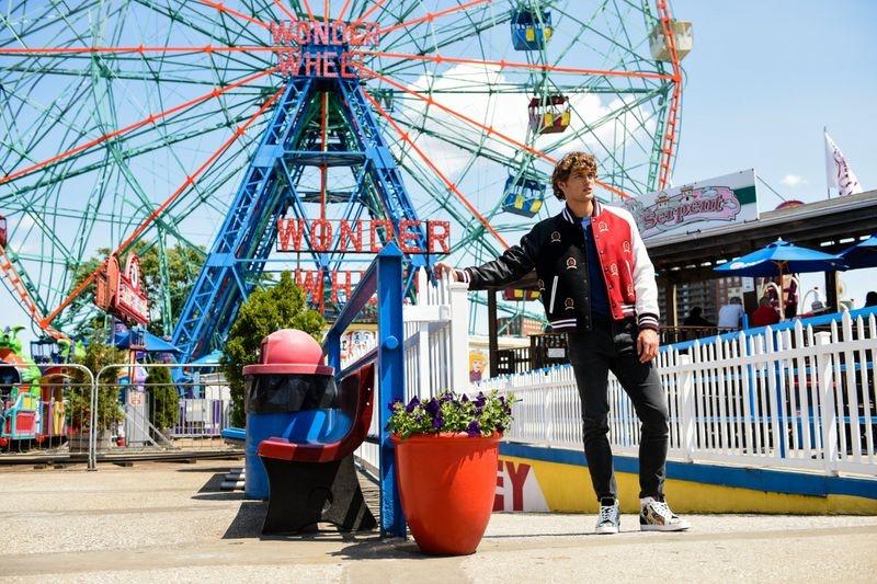 Conor Fay Takes to Coney Island for Men's Health Russia