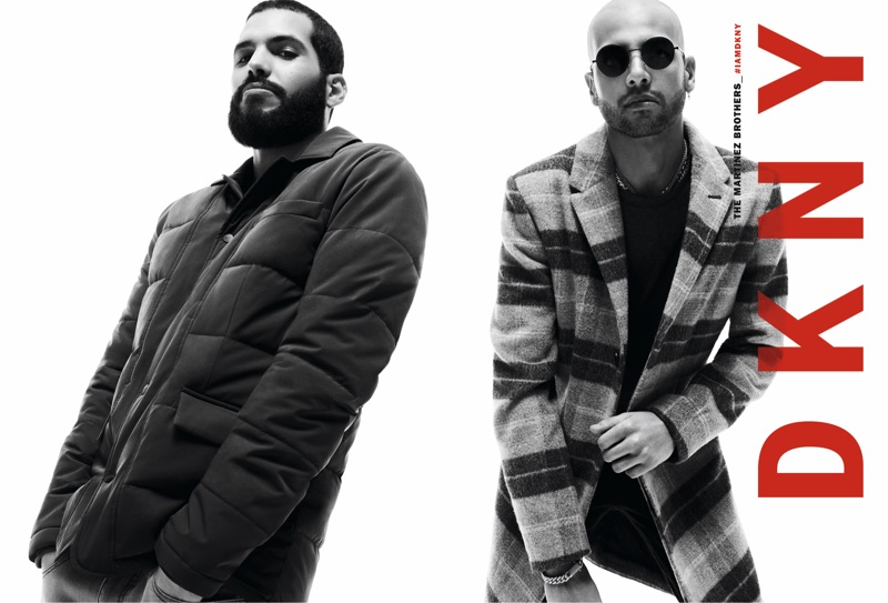 The Martinez Brothers star in DKNY's fall 2019 men's campaign.