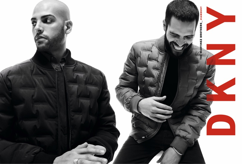 DKNY enlists The Martinez Brothers as the stars of its fall 2019 men's campaign.