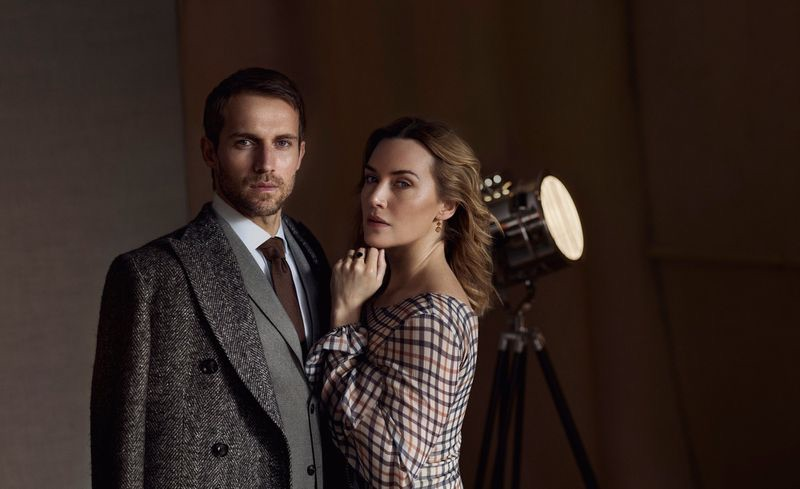 Daks enlists Andrew Cooper and Kate Winslet as the stars of its fall-winter 2019 campaign.