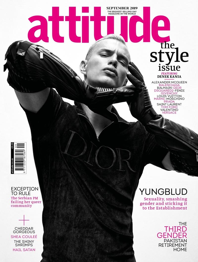 Denek Kania Rocks Bold Fall Looks for Attitude Cover Shoot