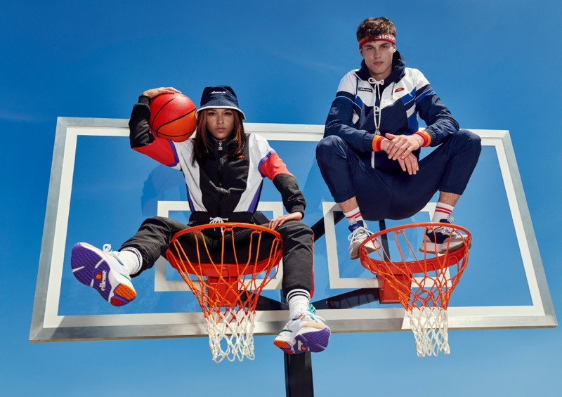 Princess Nokia and Kit Butler star in Ellesse's fall-winter 2019 campaign.
