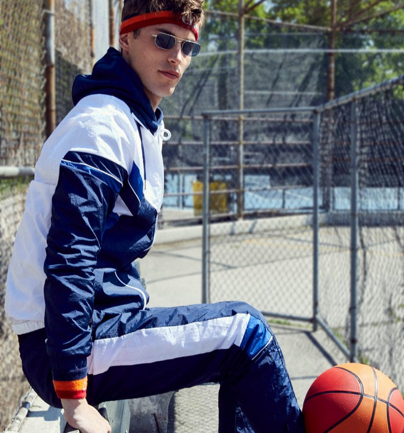 Kit Butler Embraces Sporty Style for Ellesse Fall '19 Campaign