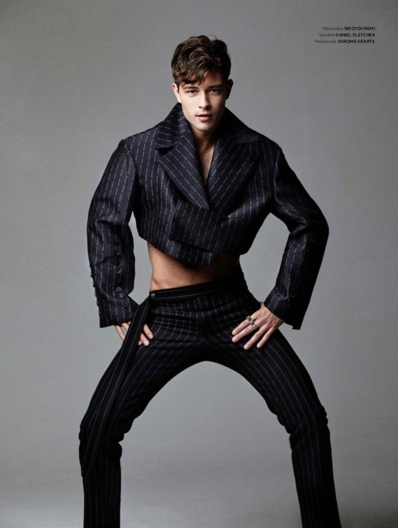 Francisco Lachowski stars in an editorial for L'Officiel Hommes Poland.
