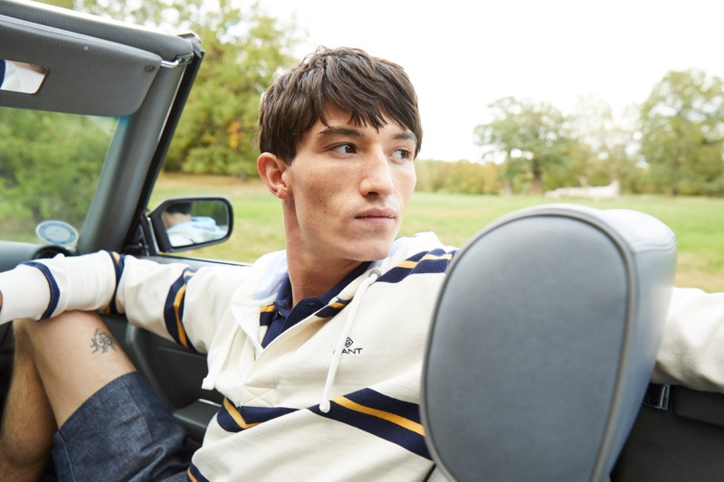 GANT enlists model Jester White to showcases transitional fashions.