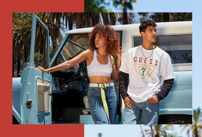 Taking in the sights of sunny California, Alexis Ordonez fronts GUESS Originals' fall 2019 campaign.