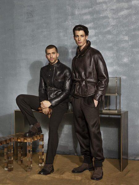 Robbie, Jerome & Walker Showcase Fall Elegance from Giorgio Armani