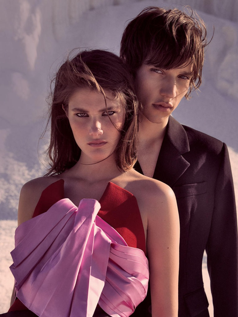 Models Lucia Lopez and Eliseu Malizzio star in Harrods magazine's latest cover story.