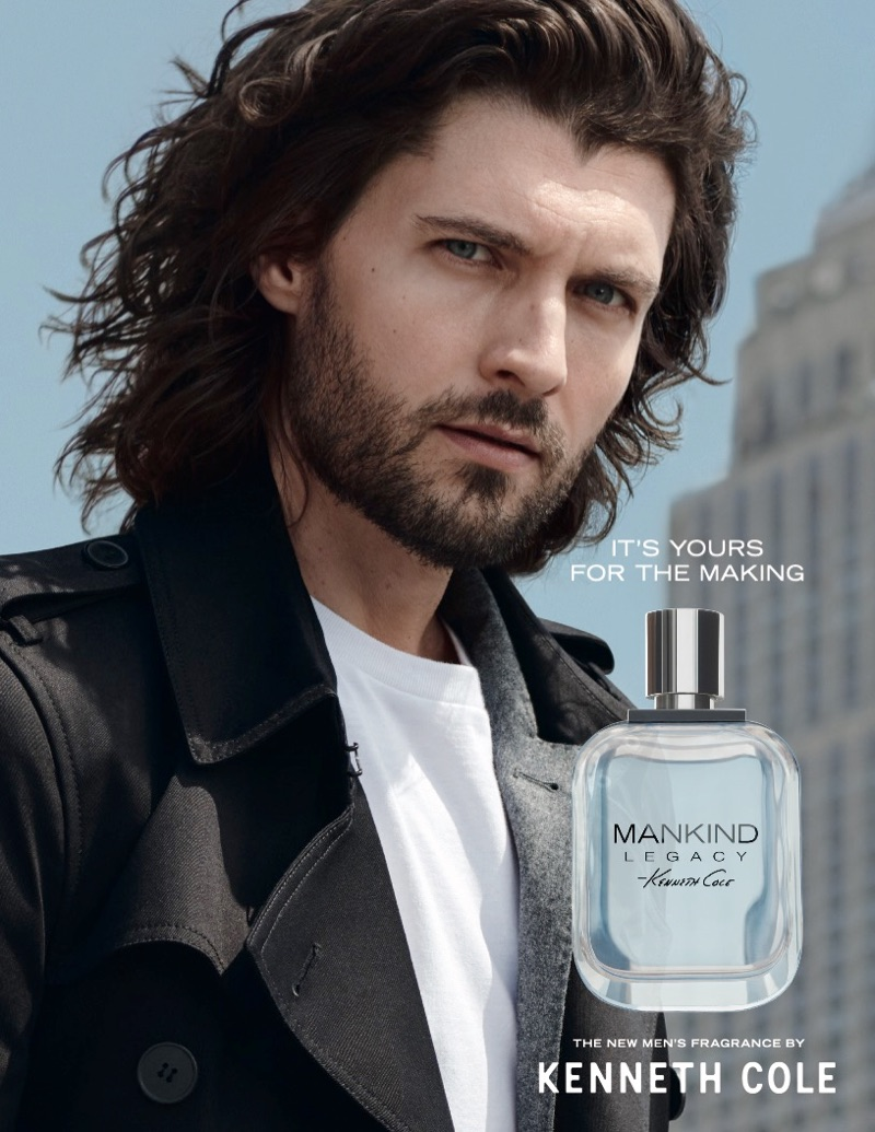 Malcolm Jackson fronts the Kenneth Cole Mankind Legacy fragrance campaign.