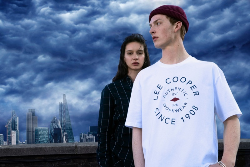 Renee Stewart and Harry Kirton front Lee Cooper's fall-winter 2019 campaign.