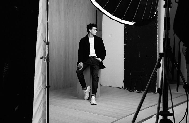 Behind the Scenes: Xavier Serrano for Liu Jo Uomo's fall-winter 2019 campaign.