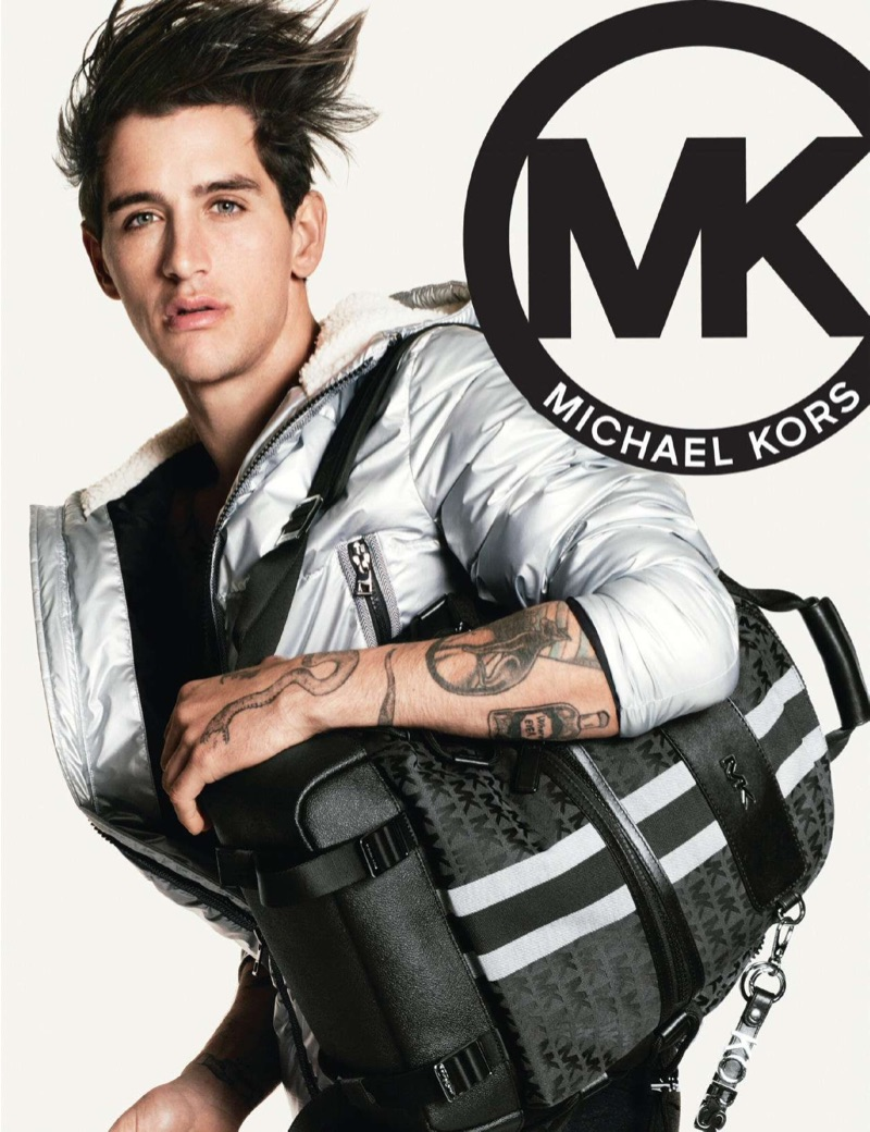 Austin Augie stars in the MICHAEL Michael Kors fall-winter 2019 campaign.