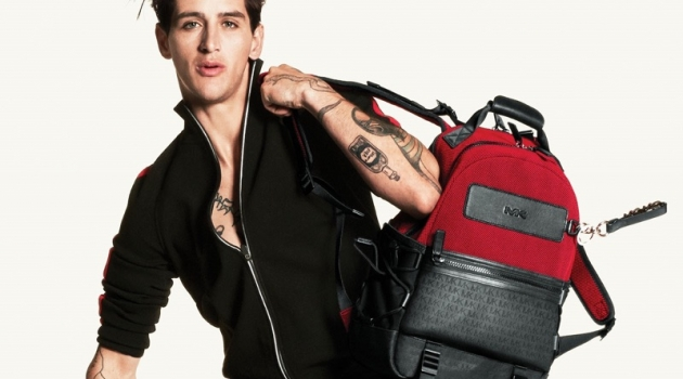 Model Austin Augie fronts the MICHAEL Michael Kors fall-winter 2019 campaign.