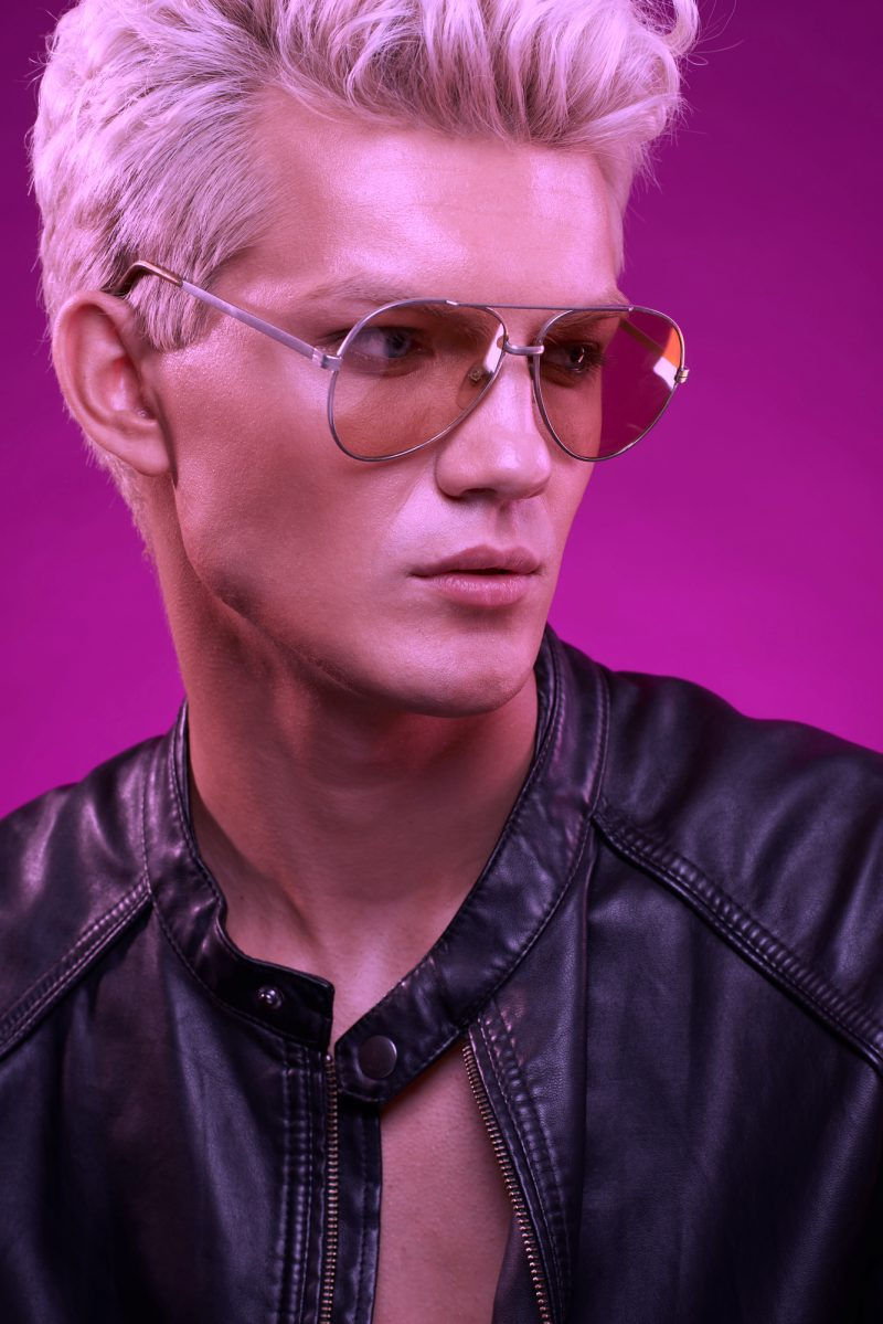 Male Model Aviator Sunglasses