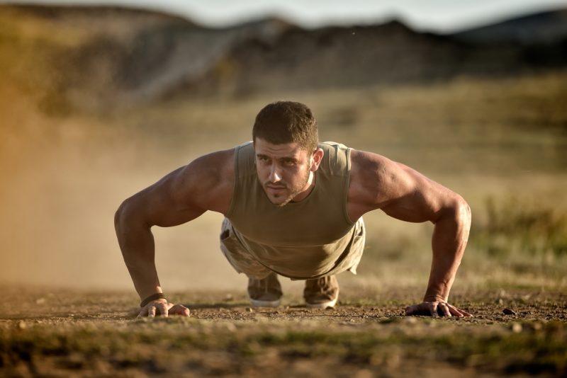 Man Exercising Outdoors