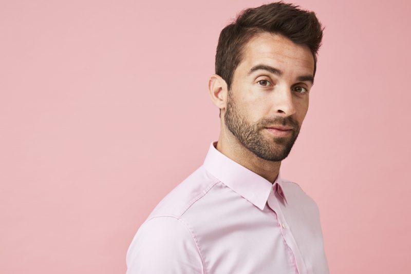Man Wearing Pink Shirt