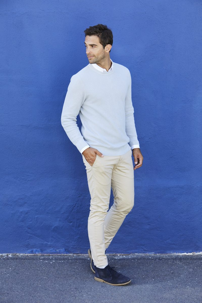 Man in Sweater and Chinos