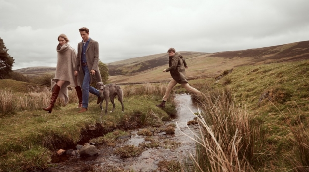 Rebecca Leigh Longendyke, Hugo Sauzay, and Mathias Lauridsen stars in Mango's fall 2019 campaign.