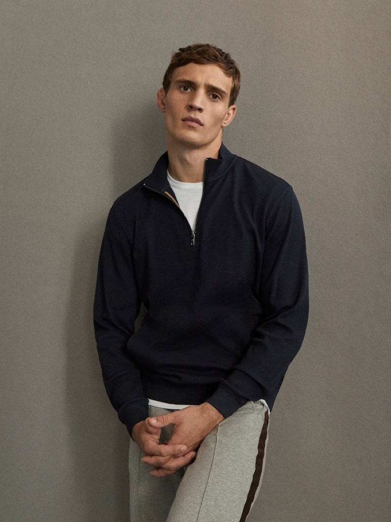 Embracing leisure style, Julian Schneyder dons a look from Massimo Dutti's Travel Soft collection.