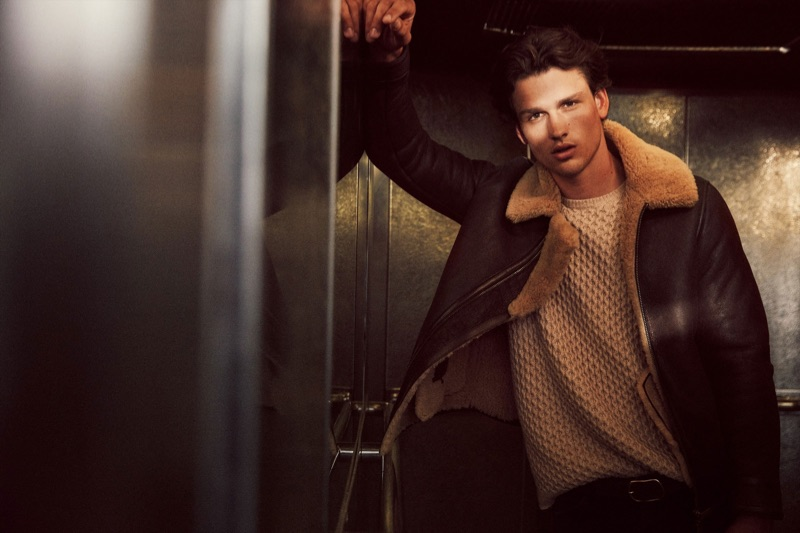 Massimo Dutti enlists Simon Nessman as the star of its fall-winter 2019 campaign.
