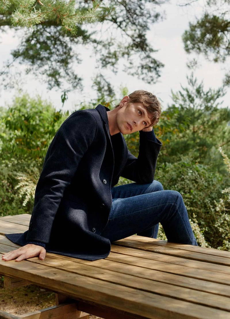 Massimo Dutti taps Mathias Lauridsen to star in its new fall editorial.