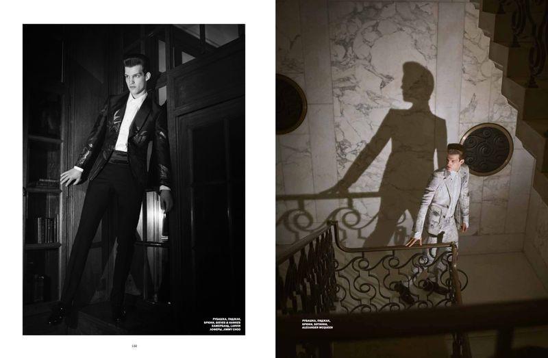 Matteo Ferri Dons Elegant Tailoring for L'Officiel Hommes Ukraine