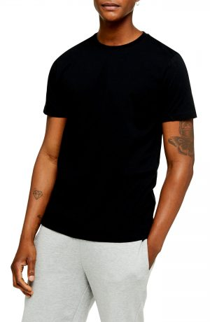 Men's Topman 2-Pack Classic Fit Crewneck T-Shirts, Size Large - Black
