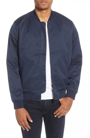 Men's Topman Icon Classic Bomber Jacket, Size Large - Blue